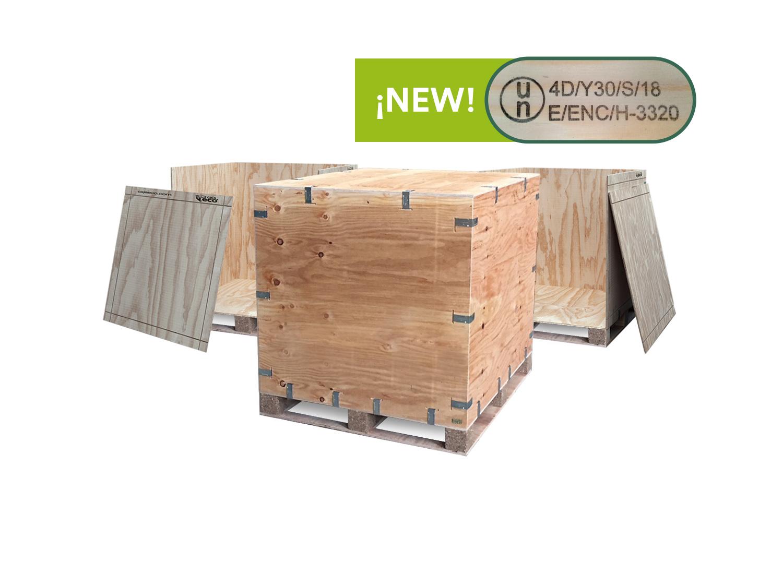 Embalaje de madera mercanacías peligrosas adr, rid
